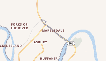 Marbledale, Tennessee map