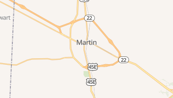 Martin, Tennessee map