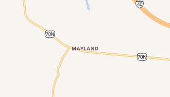 Mayland, Tennessee map