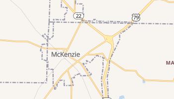 McKenzie, Tennessee map