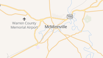 McMinnville, Tennessee map