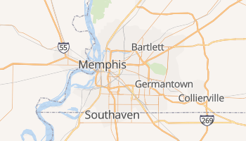 Memphis, Tennessee map
