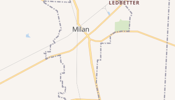 Milan, Tennessee map