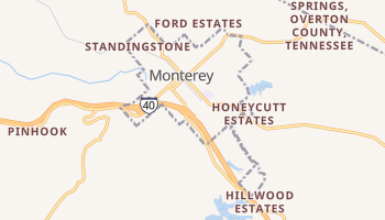 Monterey, Tennessee map