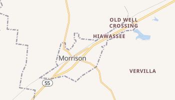 Morrison, Tennessee map