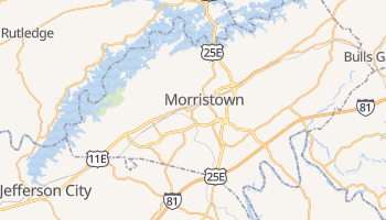 Morristown, Tennessee map