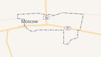 Moscow, Tennessee map