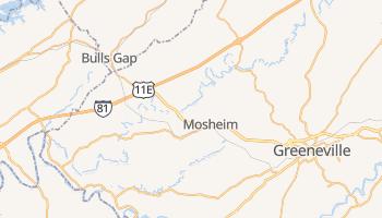 Mosheim, Tennessee map