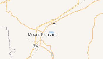 Mount Pleasant, Tennessee map