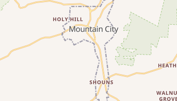 Mountain City, Tennessee map