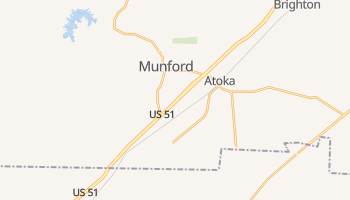 Munford, Tennessee map