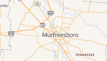 Murfreesboro, Tennessee map