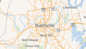 Nashville, Tennessee map