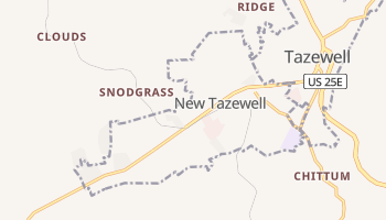 New Tazewell, Tennessee map