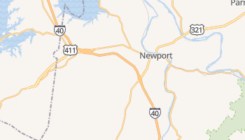Newport, Tennessee map