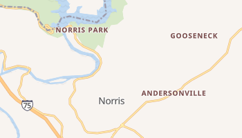 Norris, Tennessee map