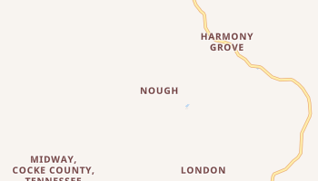 Nough, Tennessee map