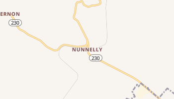 Nunnelly, Tennessee map
