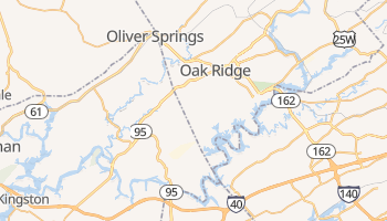 Oak Ridge, Tennessee map