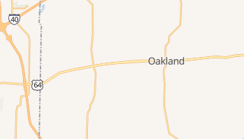 Oakland, Tennessee map