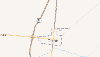 Obion, Tennessee map