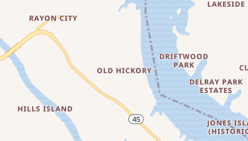 Old Hickory, Tennessee map