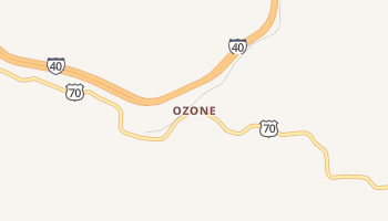 Ozone, Tennessee map