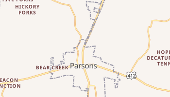 Parsons, Tennessee map