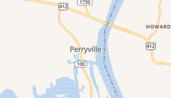 Perryville, Tennessee map