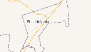 Philadelphia, Tennessee map