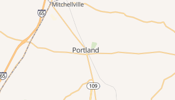 Portland, Tennessee map