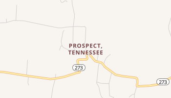 Prospect, Tennessee map