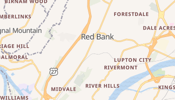 Red Bank, Tennessee map
