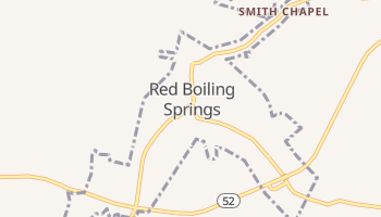 Red Boiling Springs, Tennessee map