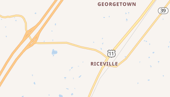 Riceville, Tennessee map