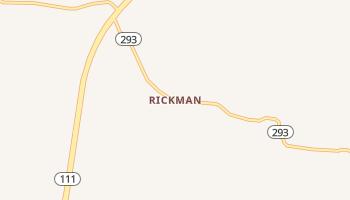 Rickman, Tennessee map