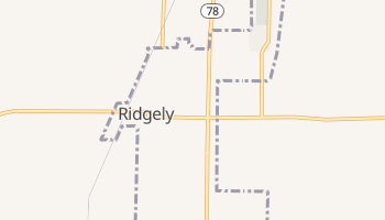 Ridgely, Tennessee map