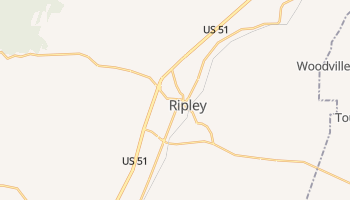 Ripley, Tennessee map