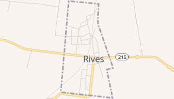 Rives, Tennessee map