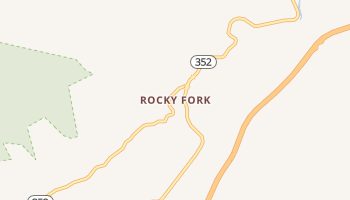 Rocky Fork, Tennessee map