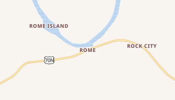 Rome, Tennessee map