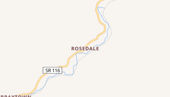 Rosedale, Tennessee map