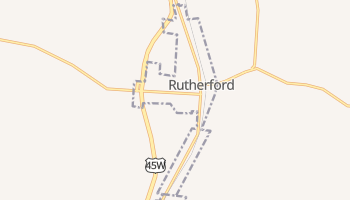 Rutherford, Tennessee map