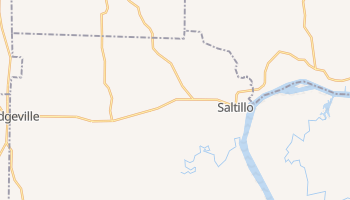 Saltillo, Tennessee map