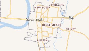 Savannah, Tennessee map