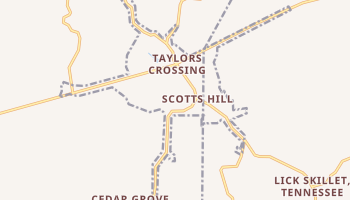 Scotts Hill, Tennessee map