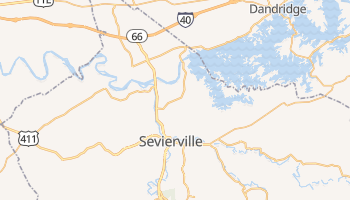 Sevierville, Tennessee map