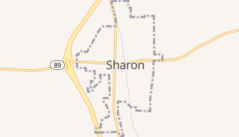 Sharon, Tennessee map