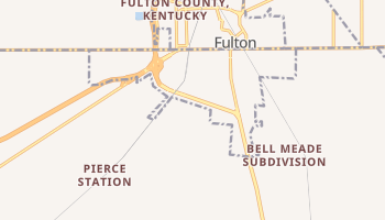 South Fulton, Tennessee map