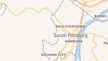 South Pittsburg, Tennessee map